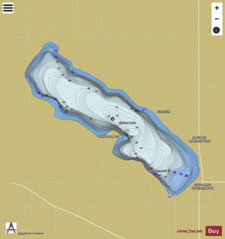Sylvan Lake Fishing Map - i-Boating App