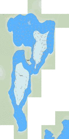 Touchwood Lake Fishing Map - i-Boating App