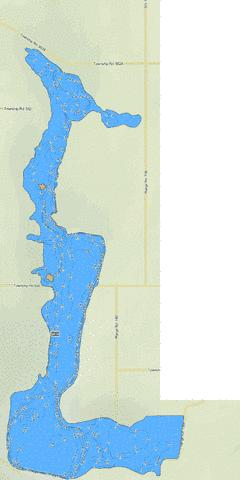 Watt Lake Fishing Map - i-Boating App