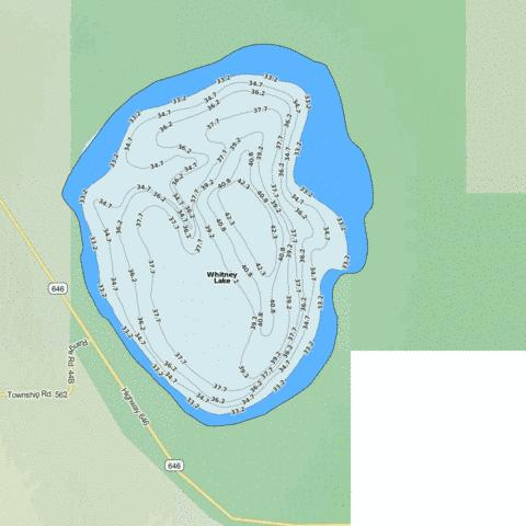 Whitney lake fishing map ca ab whitney lake nautical for Lake whitney fishing