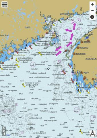 Approaches to/� Bay of Fundy Marine Chart - Nautical Charts App