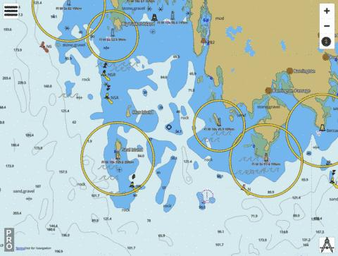 Cape Sable Island to/aux Tusket Islands Marine Chart - Nautical Charts App