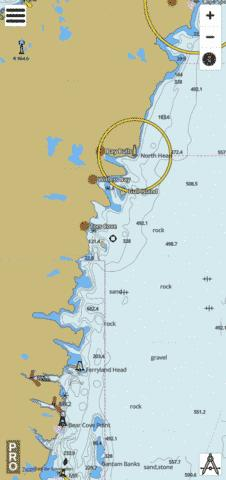 Renews Harbour to/à Motion Bay Marine Chart - Nautical Charts App