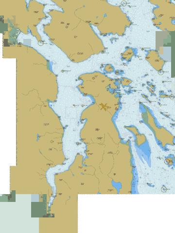 Haro Strait, Boundary Pass and\et Satellite Channel Marine Chart - Nautical Charts App