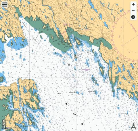 Approaches to/à Koojesse Inlet Marine Chart - Nautical Charts App