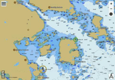 Approaches to/� Approches a Ship Harbour Marine Chart - Nautical Charts App