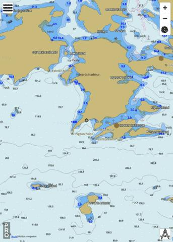 Ice Tickle and/et Indian Harbour Marine Chart - Nautical Charts App