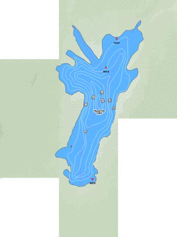 Maggotte Lake Marine Chart - Nautical Charts App