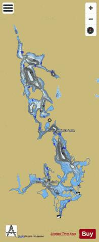 Sinaminda Lake Fishing Map - i-Boating App
