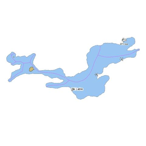 Ril Lake Fishing Map - i-Boating App
