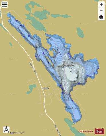 Stewart Lake Fishing Map - i-Boating App