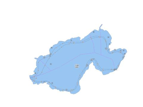 Zadi Lake Fishing Map - i-Boating App