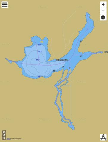 Crawford Lake Fishing Map - i-Boating App