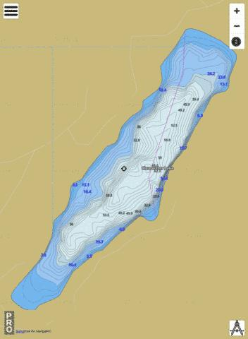 Clearwater Lake Fishing Map - i-Boating App