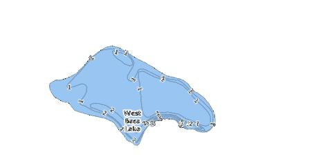 West Bass Lake Fishing Map - i-Boating App