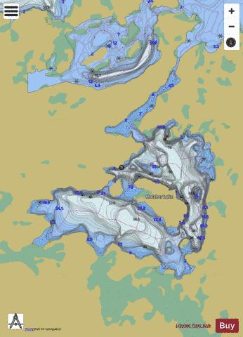 Malaher Lake Fishing Map - i-Boating App