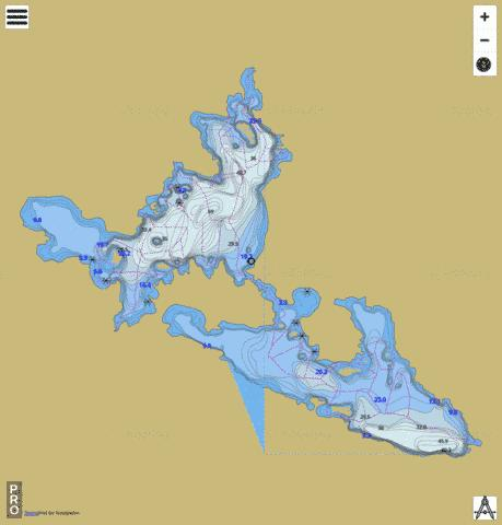 Setting Net Lake Fishing Map - i-Boating App