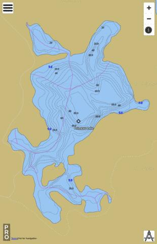 Primeau Lake Fishing Map - i-Boating App