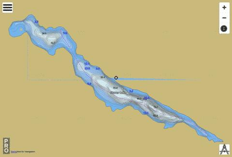 Stover Lake Fishing Map - i-Boating App