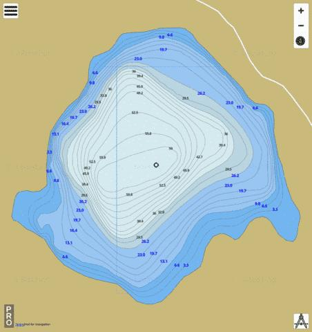 Goodlookin Lake Fishing Map - i-Boating App