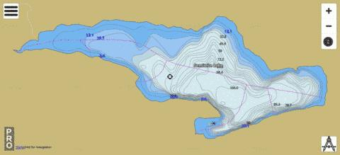 Semiwite Lake Fishing Map - i-Boating App