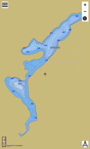 South Lake Fishing Map - i-Boating App