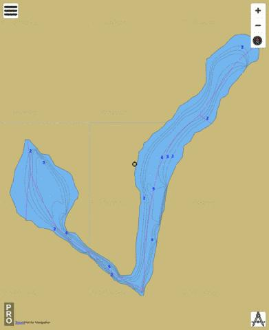 Vincent Lake/Hooker Lake Fishing Map - i-Boating App