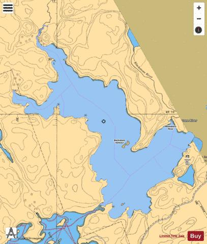 Blackstone Harbor Fishing Map - i-Boating App