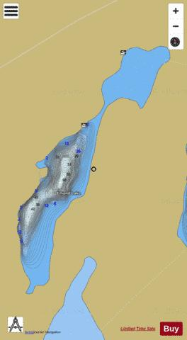 Emond Lake Fishing Map - i-Boating App