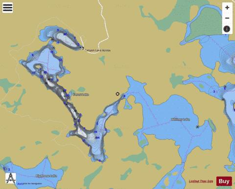 Forest Lake Fishing Map - i-Boating App
