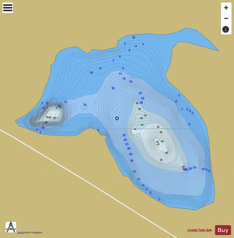 Lake No 25, Sheba Fishing Map - i-Boating App