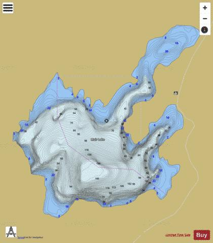 Mair Lake Fishing Map - i-Boating App