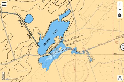 Mitchell Lake Fishing Map - i-Boating App