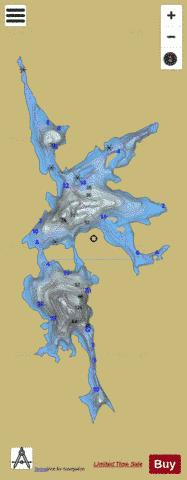 Molybdenite Lake Fishing Map - i-Boating App
