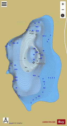 Potvin Lake Fishing Map - i-Boating App