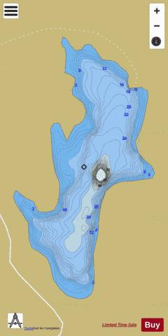 Second Lake, Ermatinger Fishing Map - i-Boating App