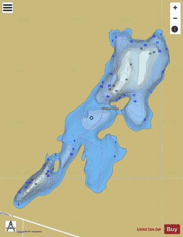 Sitches Lake Fishing Map - i-Boating App