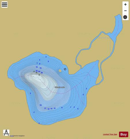 Urbach Lake Fishing Map - i-Boating App