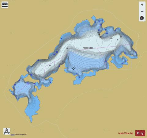 Vixen Lake Fishing Map - i-Boating App