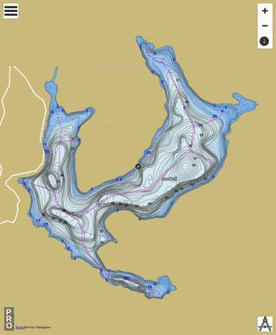 Bell Lac Fishing Map - i-Boating App