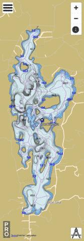 Blue Sea Lac Fishing Map - i-Boating App