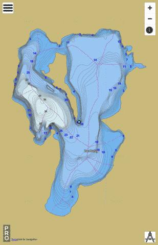 Dufay Lac Fishing Map - i-Boating App