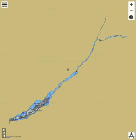 Faillon Lac Fishing Map - i-Boating App