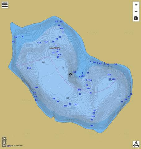 Lac Bellevue Fishing Map - i-Boating App