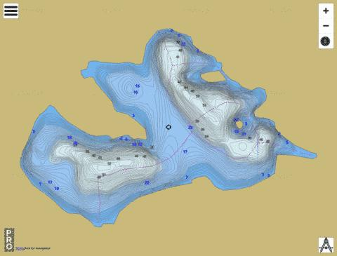 Lac Bessette Fishing Map - i-Boating App