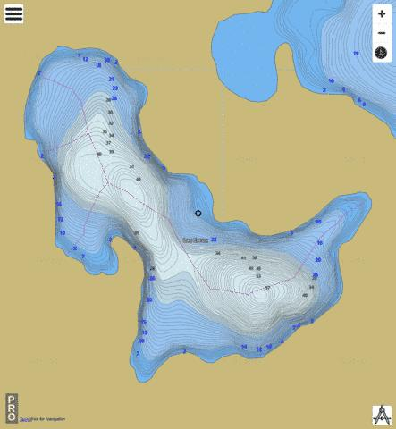 Lac Creux Fishing Map - i-Boating App