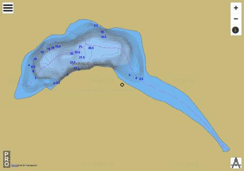 Lac Fournelle Fishing Map - i-Boating App