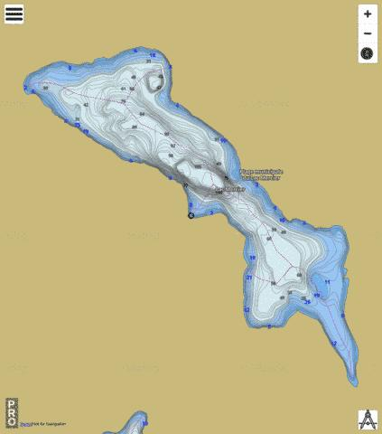 Lac Mercier Fishing Map - i-Boating App