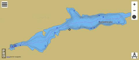 Lac Des Sucreries Fishing Map - i-Boating App