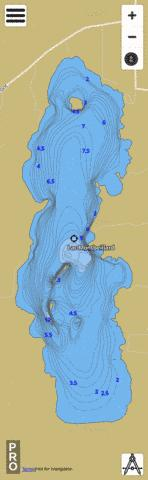 Montbeillard Lac Fishing Map - i-Boating App